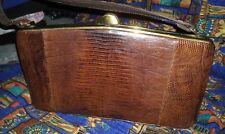 VINTAGE 1940's 1950's LIZARD Leather Handbag PURSE
