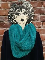INC Teal Green Chenille Textured Loop Fashion Soft Infinity Scarf O/S New