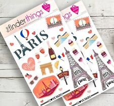 Paris France Travel Stickers for Scrapbook Planners Diary & Fun Crafts Precut