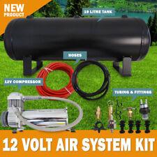 12v Air Compressor 19L Tank kit Airbag, Tyre Inflator 120Psi 1.75Cfm