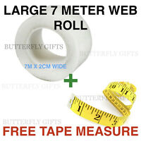 Hemming Tape LARGE 7M Long Roll Wonder Web 2cm Wide Just Iron With Free Tape WOW