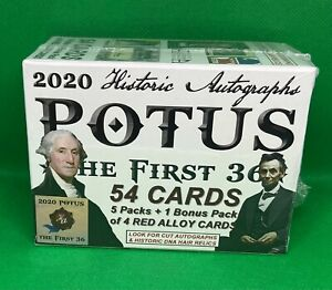 2020 HISTORIC AUTOGRAPHS POTUS THE FIRST 36 SEALED BLASTER BOX