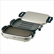 ZOJIRUSHI Hot plate with perforated barbecue plate & flat plate EA-JB20-SA F/S