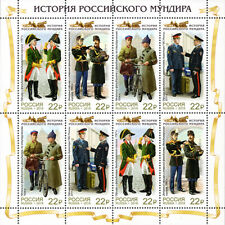 2019 Russia Cultures & Ethnicities History of Russian Uniform Mnh