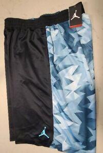 NIKE JORDAN VII RETRO BASKETBALL SHORTS BLACK BLUE RARE 642594 2XL XXL New tags