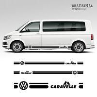 Volkswagen VW Transporter Side Stripe Decal Caravelle T4 T5 T6 Vehicle Graphic