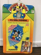 """Vintage Mickey & Pals Barbie 11 1/2"""" Doll Funwear Fashions Shillman Walt Disney"""