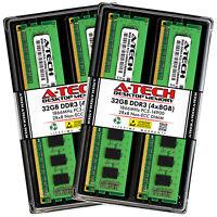 A-Tech 32GB (4 x 8GB) PC3-14900 Desktop DDR3 1866 MHz DIMM Memory RAM 4x 8G 32G
