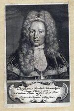SCHWARZ Christian Gottlieb Professor in Altorf Portrait Kupferstich 1750 Orig.