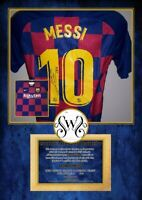 Maglia Barcelona Maglia Casa 2019 2020 Lionel Messi Autografata Signed wich COA