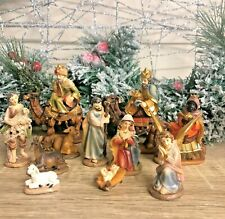 11 Hand Painted Resin Figures for Christmas Nativity w/ Wise Men on Camel 89245