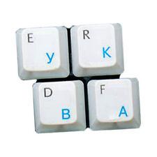 HQRP Pegatina Azul claro Rusa Transparente para Teclado para Ordenador portátil