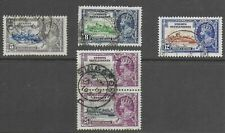 Straits Settlements 1935 KGV Silver Jubilee - Used with block of 25c value