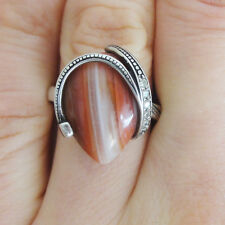 Tigers eye RING 925 Sterling Silver Agate Ring size 9 S Handmade silver ring NEW