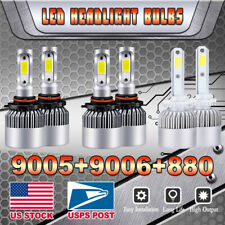 9005 9006 880 LED Headlight Fog Lights Bulb For 2000-2006 GMC Yukon XL 1500 2500