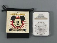 2017 Niue $2 Steamboat Willie Valentine/'S Day Dreams 1Oz Silver Gold Plated Coin