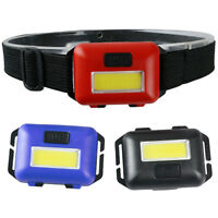 COB LED Mini Headlamp Headlight Adjustable Camping Torch Lamp Light 3*AAA FT