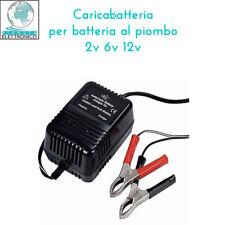 CARICABATTERIA PER BATTERIA AL PIOMBO 2v 6v 12v CON LED INDICATORE CARICA