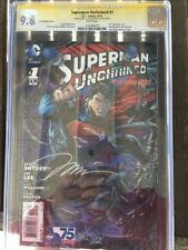 Superman Unchained #1 3D Variant Cover 1st Print Signed By Jim Lee and Dustin Ng