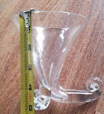 Martini Glasses Leaded Crystal, Snail Curl, Nautilus Feet, Marked Vintage