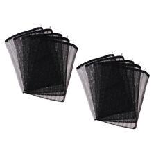 10Pcs Reusable Fish Tank Charcoal Filter Bag Media Mesh Bags w/ Zipper Black