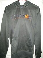 CLEMSON TIGERS Nike TEAM THERMA FIT Size Small Pullover Hoodie- Charcoal- EUC