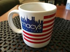 Vintage Macys New York Flag Mug Oversized America Twin Towers Patriotic Nyc Ny