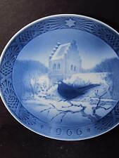 Royal Copenhagen 1966 Blackbird At Christmastime Annual Plate