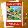 ANIMAL CROSSING Personalised Birthday Card - personalized gamer nintendo
