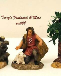 """BETHLEHEM NATIVITY VILLAGE 2.5"""" SERIES SHEPHERD KNEELING FIGURE USE w/FONTANINI"""