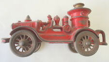 "CAST IRON FIRE STEAM PUMPER TOY TRUCK 6 1/4"" LONG"
