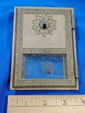 #6 Brass US Post Office Mail Box Door 1960s Ranco Glass VTG Letters Cabinet