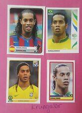4 x Ronaldinho Rare Panini Stickers 2005 2006 2007 2010 Perfect