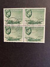 Seychelles George VI 6c Block Of 4 Fine Used..