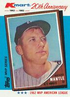 Mickey Mantle 1982 Topps Kmart MVP Series #1 New York Yankees HOF card