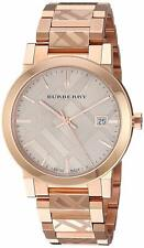 From NY! BURBERRY BU9039 The City Rose Gold-Plated Stainless Steel Watch 38mm