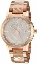 BURBERRY BU9039 The City Rose Gold-Plated Stainless Steel Watch 38mm