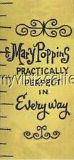 """Mary Poppins Tape Measure Practically Perfect Quilting Fabric Block 3""""x7"""""""