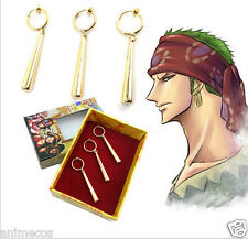 One Piece Pirate Hunter Roronoa Zoro Cosplay Ear Clip Earrings New in Box