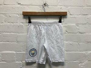 Manchester City FC Kid's Pyjama Shorts - White - New