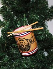 Teddy Roosevelt Vintage Looking Drum Christmas Ornament
