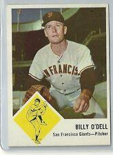 1963 Fleer Baseball Billy O'Dell Card # 66 Nr-Mt Condition