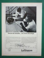 5/1964 PUB LUFTHANSA AIRLINE AIRLINER ELEVE PILOTE LINKTRAINER FRENCH AD