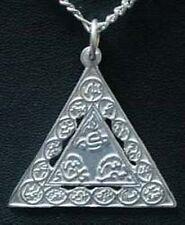 LOOK Sterling Silver Pendant Names of Allah Muslim Islamic