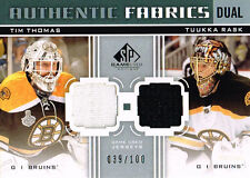 11-12 SP Game Used DUAL Authentic FABRICS xx/100 Made! THOMAS & RASK