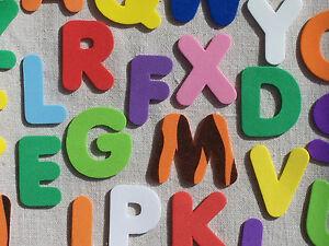 FOAM x26 LETTERS ALPHABET die cuts Personalise kids cards craft VARIOUS COLOURS