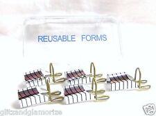 Acrylic Nail Metal Reusable Teflon Nail Forms 5ct/box