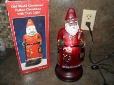 Vintage OLD WORLD Christmas FATHER CHRISTMAS WITH TOYS LIGHT _SANTA LIGHTS UP!