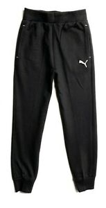 PUMA Big Boys' Fleece Jogger Pants (Youth XL(18-20), Black)