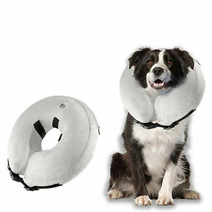 Protective Inflatable Collar for Dogs and Cats Soft Pet Recovery E-Collar Cone